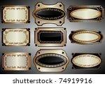 vector set  the labels framed...   Shutterstock .eps vector #74919916