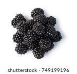 blackberry isolated on white...   Shutterstock . vector #749199196