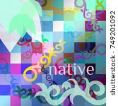 native pattern | Shutterstock .eps vector #749201092