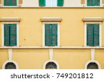 pattern from windows of the... | Shutterstock . vector #749201812