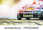 abstract blurred drift cars... | Shutterstock . vector #749201845