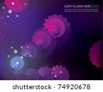 abstract flowery background... | Shutterstock .eps vector #74920678