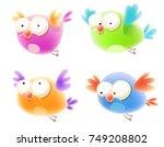 cute cartoon bird   Shutterstock .eps vector #749208802