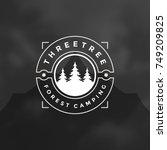 forest camping logo emblem... | Shutterstock .eps vector #749209825