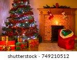 A Living Room On Christmas Eve...