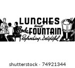 lunches and soda fountain  ... | Shutterstock .eps vector #74921344