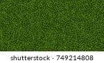 green grass background. lawn... | Shutterstock .eps vector #749214808