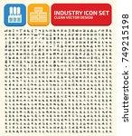 industry icon set vector | Shutterstock .eps vector #749215198