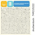 database server icon set vector | Shutterstock .eps vector #749215222