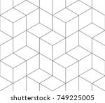 black and white seamless... | Shutterstock .eps vector #749225005