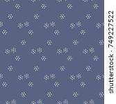 christmas new year seamless... | Shutterstock .eps vector #749227522