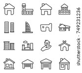 thin line icon set   home ... | Shutterstock .eps vector #749231236