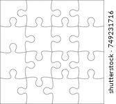 jigsaw puzzle blank template or ...   Shutterstock .eps vector #749231716