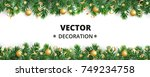 winter holiday background.... | Shutterstock .eps vector #749234758