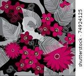 floral seamless pattern | Shutterstock .eps vector #74924125