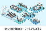 isometric flat 3d abstract... | Shutterstock .eps vector #749241652