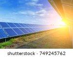 solar panels  alternative... | Shutterstock . vector #749245762
