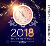 happy new 2018 year background... | Shutterstock .eps vector #749246185