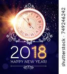 happy new 2018 year background... | Shutterstock .eps vector #749246242