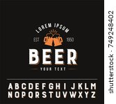 beer glasses logo with useful... | Shutterstock .eps vector #749248402