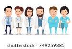 doctor  medical worker ... | Shutterstock .eps vector #749259385