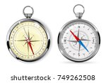 compass. navigation equipment ... | Shutterstock .eps vector #749262508