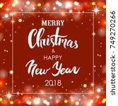 merry christmas   happy new... | Shutterstock .eps vector #749270266
