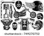 motorcycle clipart   raster... | Shutterstock . vector #749270752