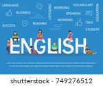 young men and women are... | Shutterstock .eps vector #749276512