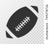 footbal american icon vector on ... | Shutterstock .eps vector #749278726