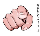we want you pointing finger... | Shutterstock .eps vector #749279242