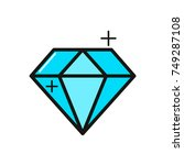 diamond line icon. vector... | Shutterstock .eps vector #749287108