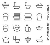thin line icon set   sink  bath ... | Shutterstock .eps vector #749295826