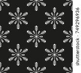 snowflake winter design season...   Shutterstock .eps vector #749296936