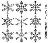 snowflake winter design season...   Shutterstock .eps vector #749297446