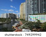 aerial view of fort lauderdale... | Shutterstock . vector #749299942