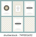 merry christmas greeting cards... | Shutterstock .eps vector #749301652