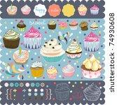 scrap booking elements | Shutterstock .eps vector #74930608
