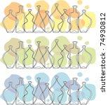 frieze glass bottle | Shutterstock .eps vector #74930812