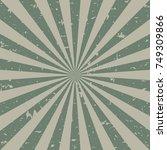 sunlight retro faded grunge... | Shutterstock .eps vector #749309866