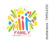 colorful family logo design... | Shutterstock .eps vector #749312152
