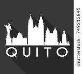 quito flat icon skyline... | Shutterstock .eps vector #749312845