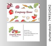 business cards template with... | Shutterstock .eps vector #749314342