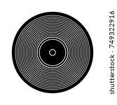 vinyl icon | Shutterstock .eps vector #749322916