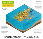 isometric 3d asian flora and... | Shutterstock .eps vector #749332516