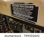 Small photo of Ejection instruction plate on an old plane