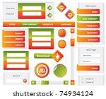 editable website elements   Shutterstock .eps vector #74934124