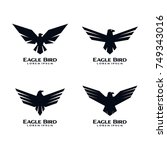 eagle bird icon logo design...   Shutterstock .eps vector #749343016