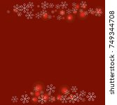 christmas background with... | Shutterstock .eps vector #749344708