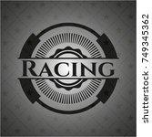 racing dark emblem. retro | Shutterstock .eps vector #749345362